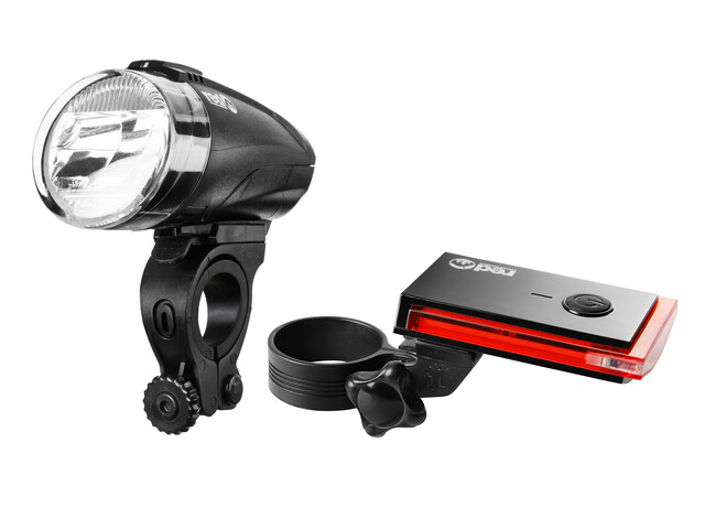 Red Cycling Products Bike Eye LED Zestaw oświetlenia czarny